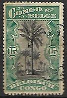 CONGO  Belge   -   1916 .  Y&T  N° 66 Oblitéré - Congo Belge