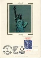 Carte Philatélique Premier Jour 1886-1986 4 JUL 1986 Liberté  Liberty  First Day Of Issue Cpsm Format 10-15 - Evénements