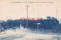77 - Ponthierry - L'entree Du Pont Le Chateau Et Les Pylones - France