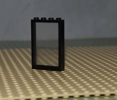 Lego Fenetre Cadre Noir 1x4x5 Avec Verre Transparent Ref 2493c01 (cadre Ref 2493a Verre Ref 2494) - Lego Technic