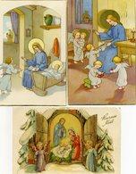 Lot De 6 Cartes - Crèche, Jésus, Ange ... - Gesù