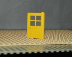 Lego Porte 1x4x5 Jaune A 4 Panneaux Ref 3861 - Lego Technic