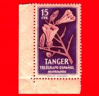 TANGER - Nuovo - 1948 - Telegrafo Espanol - Fiori - Huerfanos - 15 - Cinderellas