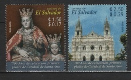 Salvador (2006) Yv. 1641/42  /  Heritage - Church - Iglesia - Eglise - Madonna - Virgin - Cathedral - Sainte Anna - Kerken En Kathedralen