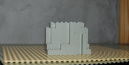 Lego Rocher 4x10x6 Gris Clair Ref 6082 - Lego Technic
