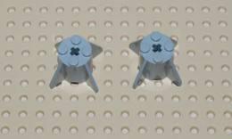 Lego Lot 2x Brique Reacteur Gris Space 2x2x2 Ref 4591 - Lego Technic