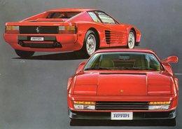 Ferrari Testarossa  -  Hideaki Kodama    - 1986    -  Carte Postale - Turismo