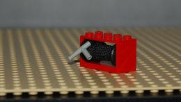 Lego Bobine Rouge 2x4x2 Complet Avec Enrouleur Fil Et Buse Simple Ref 4209c02 - Lego Technic