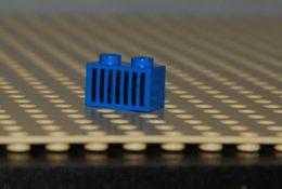 Lego Brique 1x2 Bleu Space Avec Motif Traits Noir Ref 3004p06 - Lego Technic