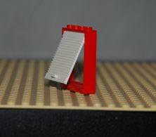Lego Cadre De Porte Rouge  1 X 4 X 4 Avec Porte Blanche Ref 6154c02 Set 7239 - Lego Technic