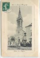 CPA 12 Aveyron Laissac Place De L'Eglise - Sonstige Gemeinden