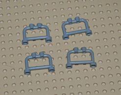 Lego Lot 4x Barrière Barre 1x4x2 Gris Ref 4083 - Lego Technic