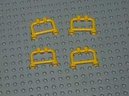 Lego Lot 4x Barrière Barre 1x4x2 Jaune Ref 4083 - Lego Technic
