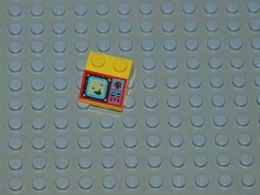 Lego Slope 45 2 X 2 Avec Motif Aquazone Ref 3039pb019 - Lego Technic