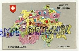 Carte Géographique De Suisse. Editions A. Deriaz - Cartes Géographiques