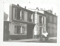 Photographie Issue D'un Tirage D'une Plaque Photographique , 150 X 105 Mm , Automobile , Fleming & Cie - Automobiles
