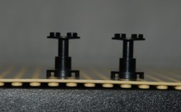 Lego Lot 2x Support Noir Space 2x2x2 Ref 3940b - Lego Technic