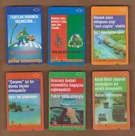 AC - TURK TELECOM PHONECARDS -  TRAFFIC FULL SERIES SET OF 6 CARDS Date : 07.2001 - Telephones