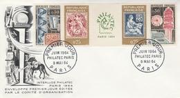 FDC 1417A BANDE PHILATEC 1964 - 1960-1969
