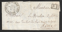 1833 - LAC - C.à.d MORTAGNE SUR HUISNE Type 13 - Port Payé A PARIS - 1801-1848: Précurseurs XIX