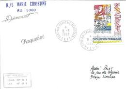 """TAAF - Port Aux Français-Kerguelen: Lettre """"M/S Marie Christine"""" Avec N°2670 Création Des Départements - 08/03/1993 - Terres Australes Et Antarctiques Françaises (TAAF)"""