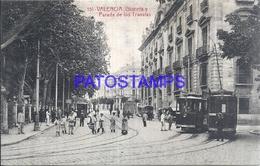 108290 SPAIN ESPAÑA VALENCIA PARADA DE LOS TRANVIAS TRAMWAY SPOTTED POSTAL POSTCARD - Spain