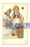 Petite Vendeuse De Fleurs. Tulipes, ... - Vieux Papiers