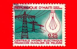 HAITI - Usato - 1969 - Energia Elettrica - Elettricità - Lampadina - Electric Power - 0.25 P. Aerea - Haiti