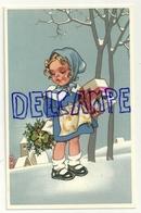 Petite Fille Dans La Neige. Houx, Trèfle, Cadeau - Non Classés