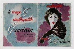 """PUBLICITE - GUERLAIN - PARIS - ROUGE A LEVRES - LE ROUGE """"G"""" INEFFACABLE DE GUERLAIN - Publicité"""