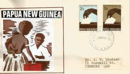 PAPUA NEW GUINEA. Encourage Women To Vote! Lettre FDC 1964, Adressée En Australie - Papouasie-Nouvelle-Guinée