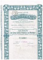 Titre Ancien - Société Des Cristalleries De Nancy - Titre De 1921 - Industrie
