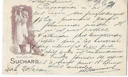 6 - 68 - Entier Postal UPU - Suchard - Superbe Cachet Ambulant Et Cachet Linéaire Locle 1900 - Postwaardestukken