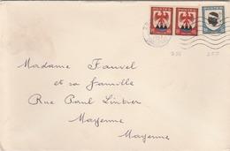 """Afft Tarif Imprimés à 1,30F Par N° 755 + 758 (paire) Ensemble Peu Fréquent. Pour Amateurs """"blasons"""". (TTB) - Postmark Collection (Covers)"""