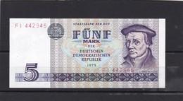 BILLET 5 MARK   DDR  - TTBE -sans Pli - QUALITE LUXE  NEUF  XXXX - [ 7] 1949-… : RFA - Rep. Fed. De Alemania
