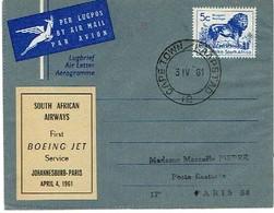Boeing Jet Vignette South African Airways Paris 1961 - Aviation