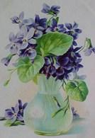 Cpa  Précurseur ILLUSTRATEUR FLEURS Dans Un Vase , BELLES VIOLETTES Signée , VIOLET  PURPLE FLOWERS  A/s MB . EARLY PC - Fleurs