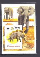 Mali Disparue Faune Dinosaures Paléontologie Préhistorique 2006 éléphants - Elefanti