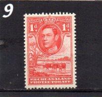 1938 GV1 1d MNH - Bechuanaland (...-1966)