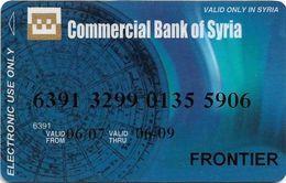 Commercial Bank Of Syria, Syrian Bank Card - Geldkarten (Ablauf Min. 10 Jahre)