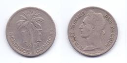 Belgian Congo 1 Franc 1922 (Flemish Legend) - 1910-1934: Albert I