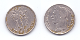 Belgian Congo 1 Franc 1924 (French Legend) - 1910-1934: Albert I