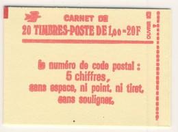 (C18) - CARNET FERME DE 20 TP - SABINE GANDON 1.00F - Y&T N°1972 - Carnets