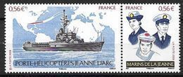 France 2009 N° 4423/4424 Neufs En Paire Navire Jeanne D'Arc à La Faciale - France