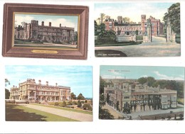 FOUR OLD POSTCARDS OF CASTLE ASHBY STATELY HOME NORTHAMPTON NORTHAMPTONSHIRE - Northamptonshire
