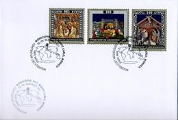 2012 , LIECHTENSTEIN , MONACOPHIL 2012 - MONTECARLO , ARTE , PINTURA , NAVIDAD - Lettres & Documents