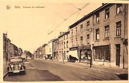 Gilly - Chaussée De Lodelinsart (animée, Oldtimer, Commerce Café, Tram Au Loin...) - Charleroi