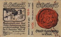 Billet Autriche - 5 Heller - Rattenberg 1920 - Oesterreich