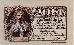 Billet Autriche - 20 Heller - Rattenberg 1920 - Oesterreich