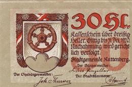 Billet Autriche - 30 Heller - Rattenberg 1920 - Oesterreich